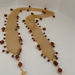 Chain Maille Necklace/Scarf/Belt – African Amber