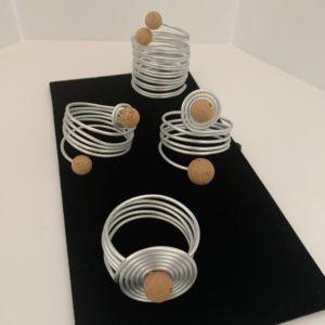 Silver Wire + Cork Wrap Bracelets