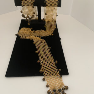Chain Maille Necklace/Scarf/Belt – Tigers Eye