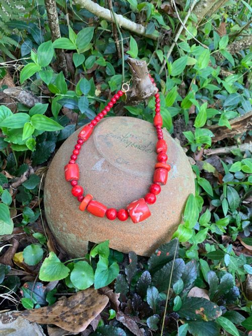 Genuine Red Coral Chunky Necklace