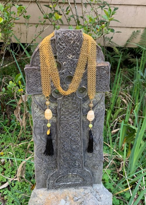 carved buddha necklace scarf