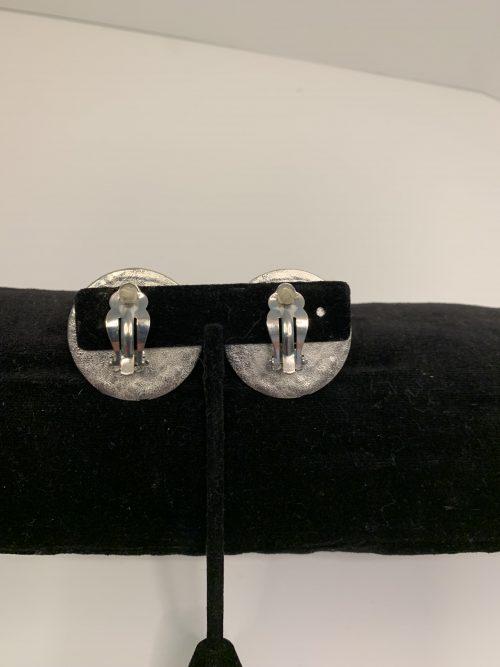 Mayan Calendar Clip Earring/Silver